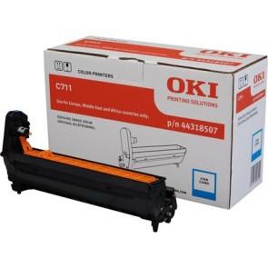 44318507 Dobegység C711 nyomtatóhoz, OKI, cián, 20k