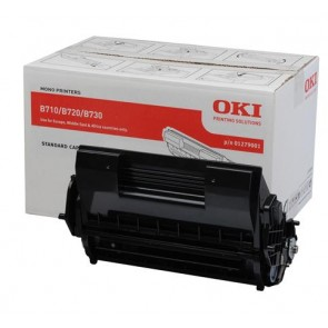01279001 Lézertoner B710, B720, B730 nyomtatókhoz, OKI fekete, 15k