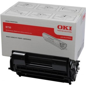 01279201 Lézertoner B730 nyomtatóhoz, OKI fekete, 25k