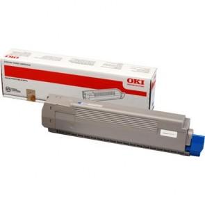 44643003 Lézertoner C801, 821 nyomtatókhoz, OKI kék, 7,3k