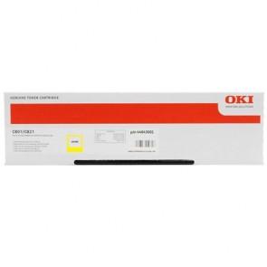 44643001 Lézertoner C801, 821 nyomtatókhoz, OKI, sárga, 7,3k