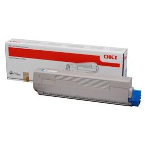 44844507 Lézertoner C831, 841 nyomtatókhoz, OKI kék, 10k