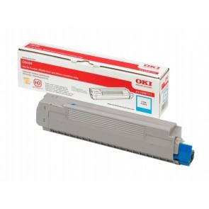 43487711 Lézertoner C8600, 8800 nyomtatókhoz, OKI kék, 6k