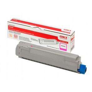 43487710 Lézertoner C8600, 8800 nyomtatókhoz, OKI vörös, 6k