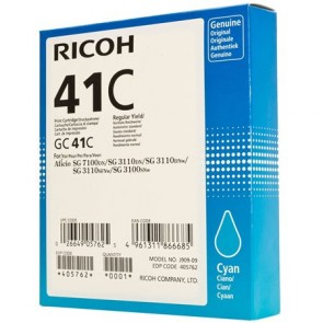 405762 Gélpatron SG 3100SNw, SG 7100DN nyomtatókhoz, RICOH Type GC41C kék, 2,2K