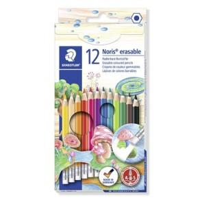 """Színes ceruza készlet radírral, hatszögletű, STAEDTLER """"Noris Club"""", 12 különböző szín"""