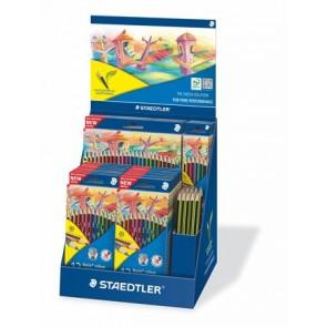 """Színes ceruza és grafitceruza display, hatszögletű, STAEDTLER """"Noris Colour"""" és """"Noris Eco"""""""