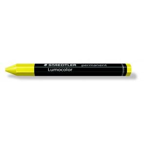 """Jelölőkréta, mindenre író, vízálló (omnigraph), STAEDTLER """"Lumocolor"""", sárga"""
