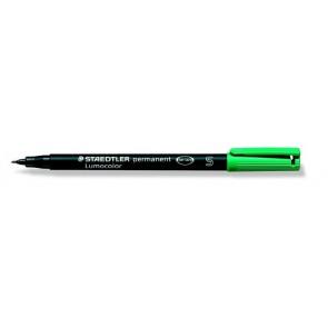 """Alkoholos marker, OHP, 0,4 mm, STAEDTLER """"Lumocolor 313 S"""", zöld"""