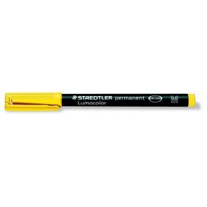 """Alkoholos marker, OHP, 1 mm, STAEDTLER """"Lumocolor 317 M"""", sárga"""