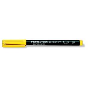 """Alkoholos marker, OHP, 0,6 mm, STAEDTLER """"Lumocolor 318 F"""", sárga"""