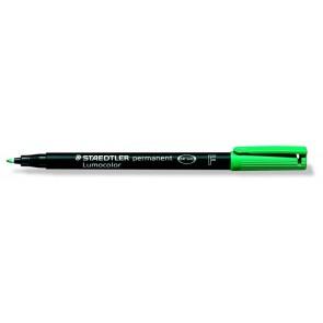 """Alkoholos marker, OHP, 0,6 mm, STAEDTLER """"Lumocolor 318 F"""", zöld"""