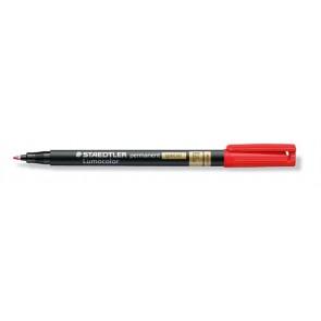 """Alkoholos marker, 0,6 mm, F, STAEDTLER """"Lumocolor Special"""", piros"""
