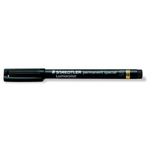 """Alkoholos marker, 0,4 mm, S, STAEDTLER """"Lumocolor Special"""", fekete"""