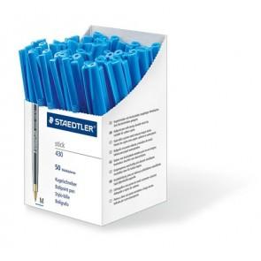 """Golyóstoll, 0,3 mm, kupakos, STAEDTLER """"Stick 430 F"""", kék"""