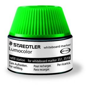 """Utántöltő táblamarkerhez, STAEDTLER """"Lumocolor"""", zöld"""