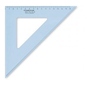 """Háromszög vonalzó, műanyag, 45°, 25 cm, STAEDTLER """"Mars"""", átlátszó kék"""