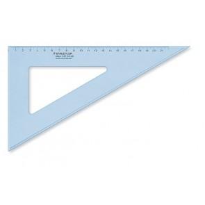 """Háromszög vonalzó, műanyag, 60°, 25 cm, STAEDTLER """"Mars"""", átlátszó kék"""