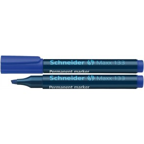 "Alkoholos marker, 1-4 mm, vágott, SCHNEIDER ""Maxx 133"", kék"