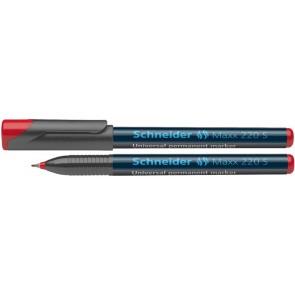 """Alkoholos marker, OHP, 0,4 mm, SCHNEIDER """"Maxx 220 S"""", piros"""