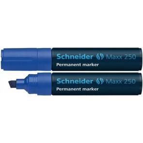 "Alkoholos marker, 2-7 mm, vágott, SCHNEIDER ""Maxx 250"", kék"
