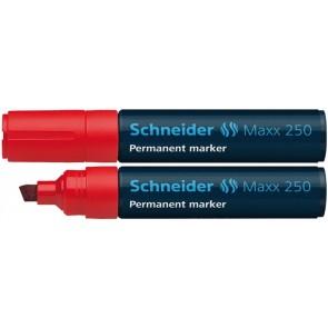 "Alkoholos marker, 2-7 mm, vágott, SCHNEIDER ""Maxx 250"", piros"