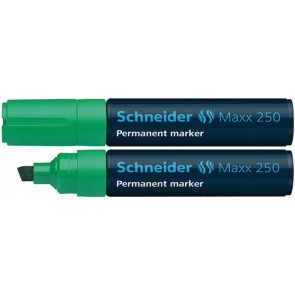 "Alkoholos marker, 2-7 mm, vágott, SCHNEIDER ""Maxx 250"", zöld"