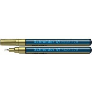 "Lakkmarker, 0,8 mm, SCHNEIDER ""Maxx 278"", arany"