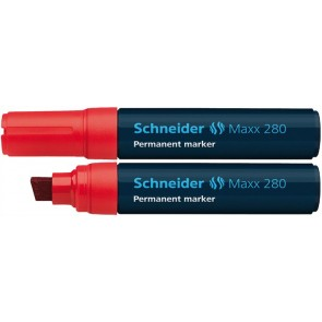 "Alkoholos marker, 4-12 mm, vágott, SCHNEIDER ""Maxx 280"", piros"