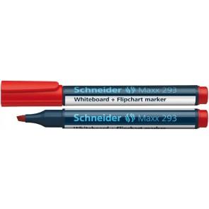 """Tábla- és flipchart marker, 2-5 mm, vágott, SCHNEIDER """"Maxx 293"""", piros"""