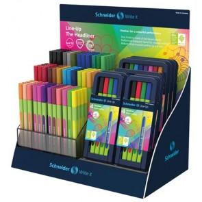 """Tűfilc display, 0,4 mm, SCHNEIDER """"Line-Up"""", vegyes színek"""