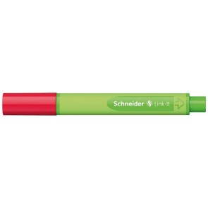 "Tűfilc, 0,4 mm, SCHNEIDER ""Link-it"", összeilleszthető, piros"