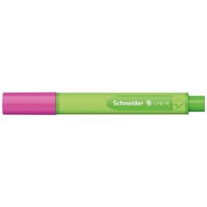 """Tűfilc, 0,4 mm, SCHNEIDER """"Link-it"""", összeilleszthető, rózsaszín"""