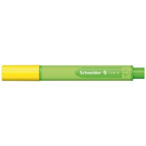 """Tűfilc, 0,4 mm, SCHNEIDER """"Link-it"""", összeilleszthető, sárga"""