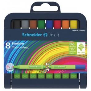 """Tűfilc készlet, 0,4 mm, SCHNEIDER """"Link-it"""", összeilleszthető, 8 különböző szín"""