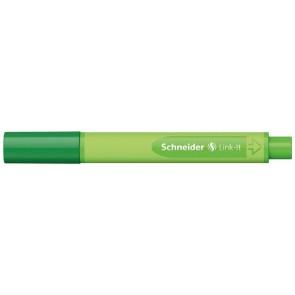 """Tűfilc, 0,4 mm, SCHNEIDER """"Link-it"""", összeilleszthető, zöld"""
