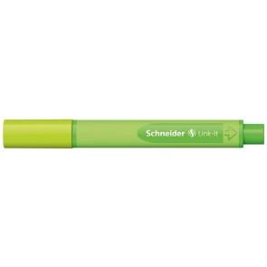 """Tűfilc, 0,4 mm, SCHNEIDER """"Link-it"""", összeilleszthető, almazöld"""