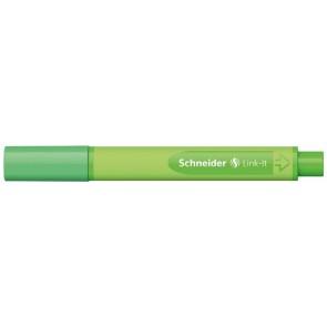 """Tűfilc, 0,4 mm, SCHNEIDER """"Link-it"""", összeilleszthető, fűzöld"""