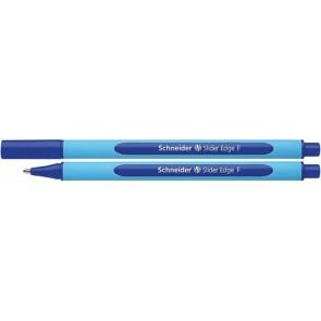 """Golyóstoll, 0,3 mm, kupakos, SCHNEIDER """"Slider Edge F"""", kék"""