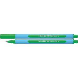 "Golyóstoll, 0,5 mm, kupakos, SCHNEIDER ""Slider Edge M"", zöld"