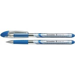"""Golyóstoll, 0,5 mm, kupakos, SCHNEIDER """"Slider Basic M"""", kék"""