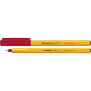 "Golyóstoll, 0,3 mm, kupakos, SCHNEIDER ""Tops 505 F"", piros"
