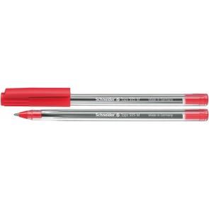 "Golyóstoll, 0,5 mm, kupakos, SCHNEIDER ""Tops 505 M"", piros"