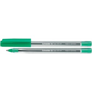 "Golyóstoll, 0,5 mm, kupakos, SCHNEIDER ""Tops 505 M"", zöld"