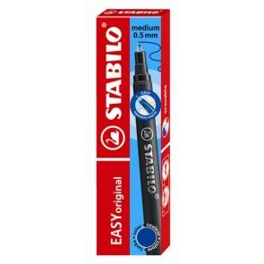 """Rollertoll betét, zselés, 0,5 mm, STABILO """"Easy original"""", kék"""