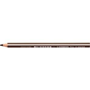 """Színes ceruza, háromszögletű, vastag, STABILO """"Trio"""", sötét barna"""