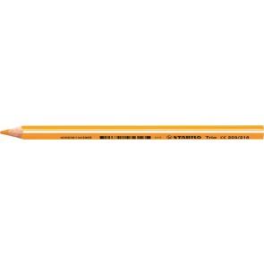 """Színes ceruza, háromszögletű, vastag, STABILO """"Trio"""", világos narancssárga"""