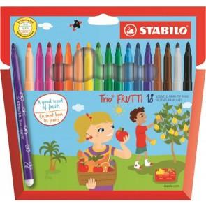 """Filctoll készlet, illatos, STABILO """"Trio Frutti"""", 18 különböző szín"""
