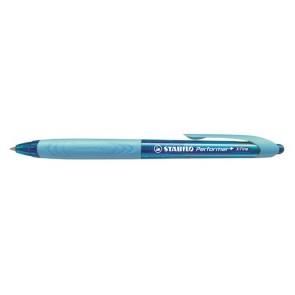 "Golyóstoll, 0,38 mm, nyomógombos, kék tolltest, STABILO ""Performer+"", kék"