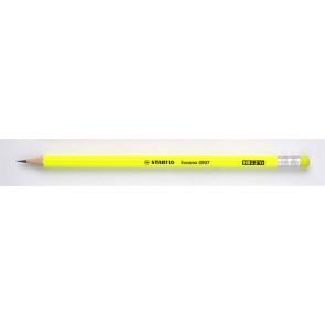 "Grafitceruza radírral, HB, hatszögletű, STABILO ""Swano Neon"", sárga"